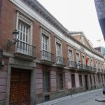 Spanish Royal Academy of Pharmacy, in Madrid. Building from 1830.