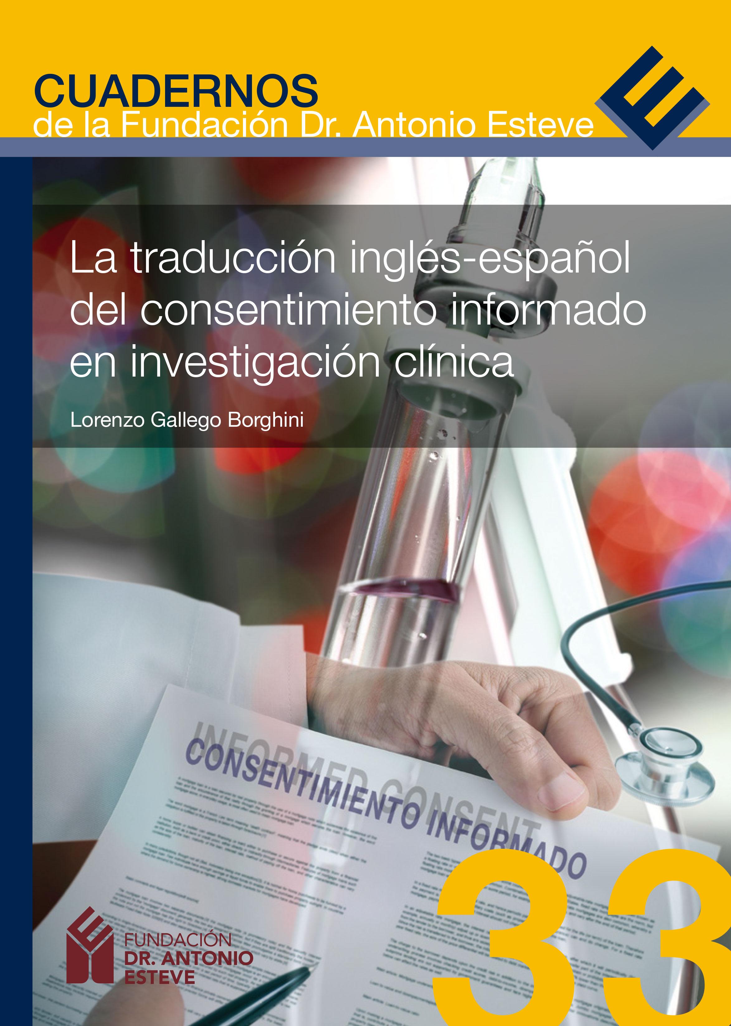 La traducción inglés-español del consentimiento informado en ...